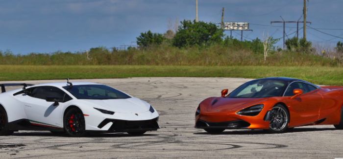 McLaren 720S vs Lamborghini Huracan Performante – Video