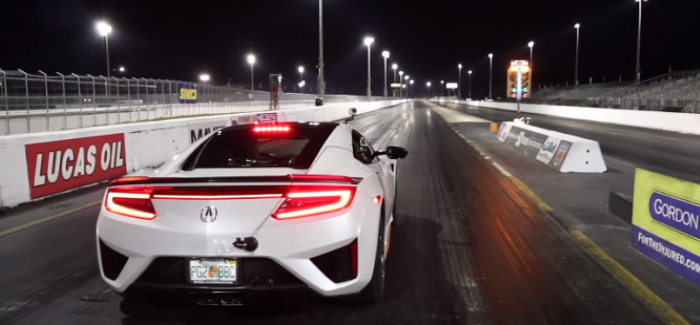 2017 Acura NSX Drag Racing – Video