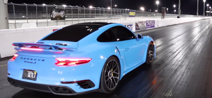 2018 porsche 911 turbo s riviera blue runs 10 2 with tune and exhaust video dpccars. Black Bedroom Furniture Sets. Home Design Ideas