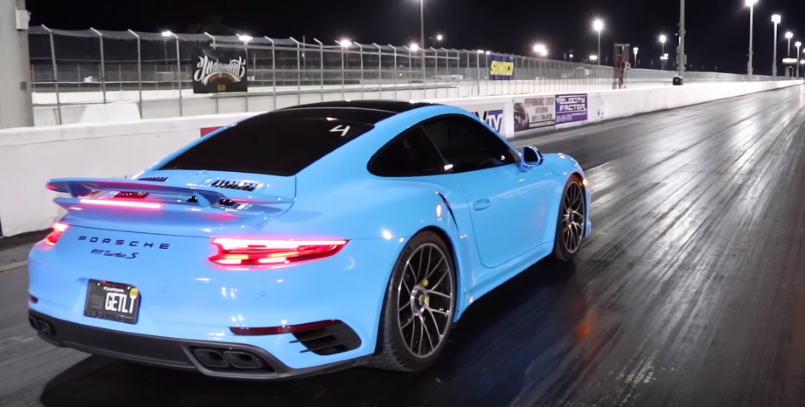 2018 Porsche 911 Turbo S Riviera Blue Runs 10 2 With Tune