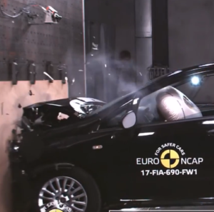 2018 Toyota Yaris, Fiat Punto, DS 3  Crash Test & Rating (2)