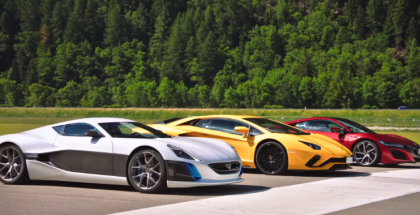 Drag Race - Aventador, NSX, and Rimac (1)