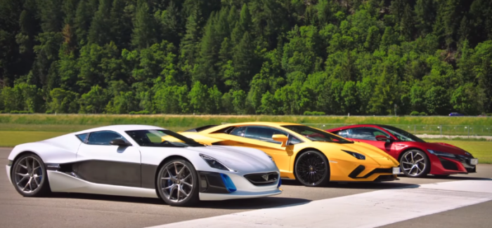 Drag Race – Aventador, NSX, and Rimac – Video