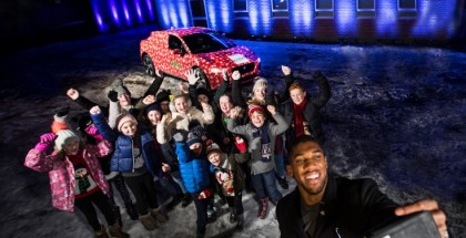 BOXER ANTHONY JOSHUA WITH THE NSPCC IPACE DECEMBER 2017 PHOTOGRAPHED BY NEALE HAYNES