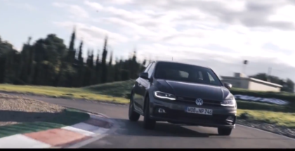 New 2018 VW Polo GTI On The Racetrack