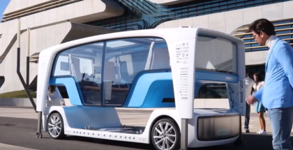 Self Driving Rinspeed Snap Bus