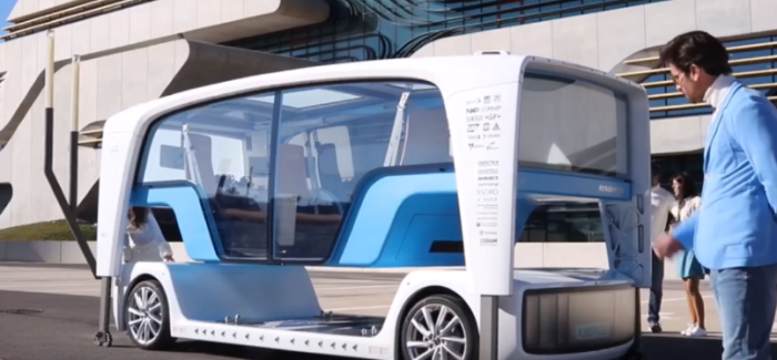 Self Driving Rinspeed Snap Bus – Video