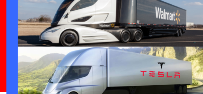 Tesla Semi Truck vs Walmart Semi Truck – Video