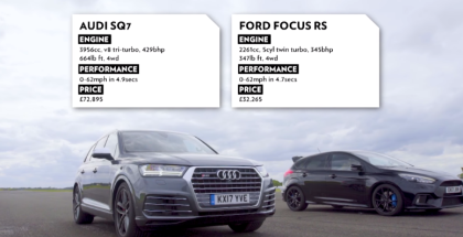 Top Gear Audi SQ7 vs Ford Focus RS Drag Race (1)