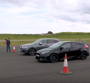 Top Gear Audi SQ7 vs Ford Focus RS Drag Race (2)