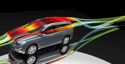 GMC Aerodynamicists use computational fluid dynamic tools to analyze the airflow around the vehicle. By minimizing the aerodynamic drag, Terrain customers can expect up to 3 more miles per gallon compared to the previous generation, for an EPA-estimated 26 mpg combined for AWD models.