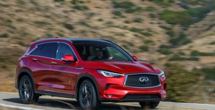 """The INFINITI QX50 is defined by distinctive proportions which set the car apart from its competitors. Influenced by INFINITI's """"Powerful Elegance"""" design language, the all-new QX50 has an elevated, commanding SUV stance and strong character lines."""