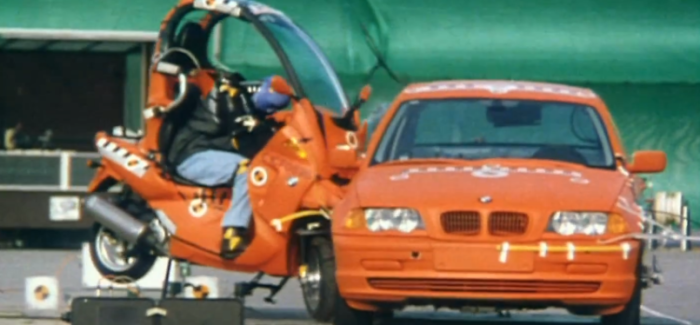 BMW C1 Scooter With Roof vs Car Crash Test – Video