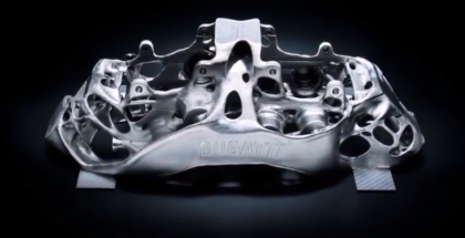 Bugatti Develops World's Largest 3D printed Titanium Brake Calipers