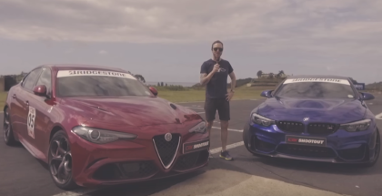 Drag Race - BMW M4 CS vs Alfa Romeo Giulia QV (1)