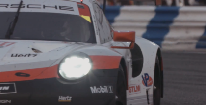 Porsche 911 RSR After 18 Hours & 585 laps At Daytona