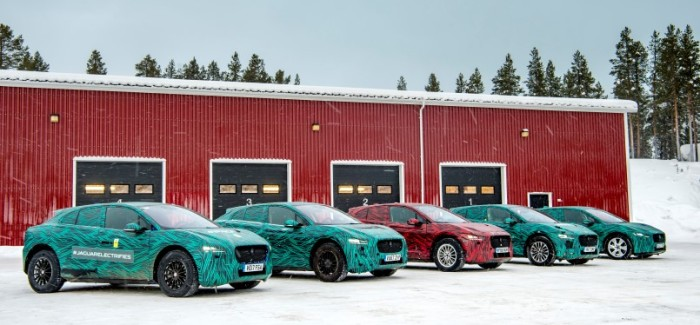 Electric Jaguar I-Pace Testing On Ice & Snow