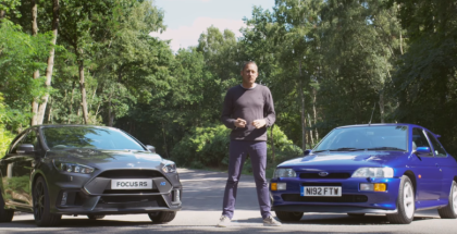 Ford Focus RS vs Escort RS Cosworth (1)
