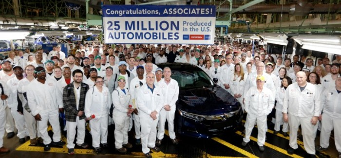 Honda Builds 25 Millionth Car in the USA – Video