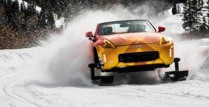 Nissan is getting into the winter sports spirit with a specially constructed, one-off 370Z Roadster snowmobile. Dubbed the 370Zki – pronounced 370-Ski – the 332-horsepower 370Z Roadster is ready to tackle ski slopes and backwoods trails alike with its front skis and rear snow tracks replacing the iconic sports car's usual high performance tires.