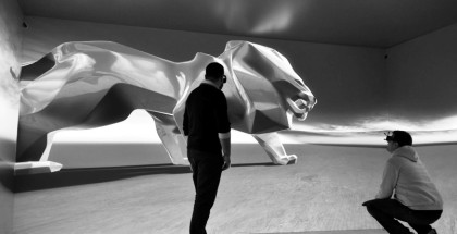PEUGEOT Monumental Lion Sculpture For Geneva Motor Show 1