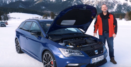 Seat Snow Test Drive With SEAT Leon ST Cupra German Review  (1)