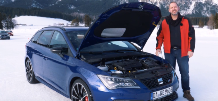 Seat Snow Test Drive With SEAT Leon ST Cupra German Review – Video