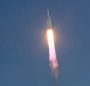 SpaceX Launching Tesla Roadster Into Space Footage (1)