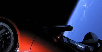 SpaceX Launching Tesla Roadster Into Space Footage  (2)