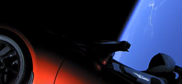 SpaceX Launching Tesla Roadster Into Space Footage – Video