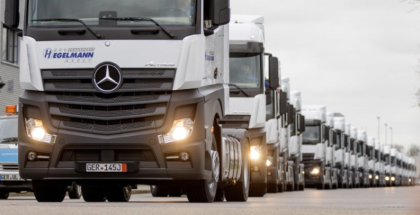 Taking Delivery Of 1000th Mercedes-Benz Actros
