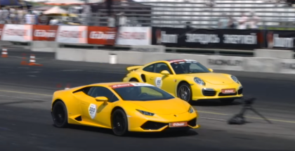 850 HP Lamborghini Huracan VS 750 HP Porsche 911 Turbo S (1)