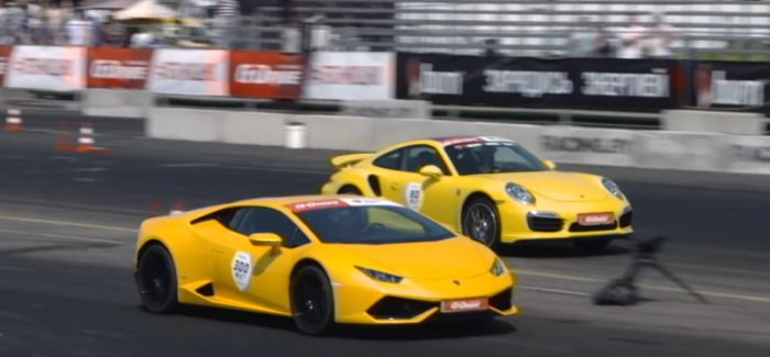 850 HP Lamborghini Huracan VS 750 HP Porsche 911 Turbo S – Video