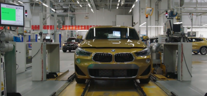 BMW X2 Factory At Regensburg With Exoskeleton Suits – Video