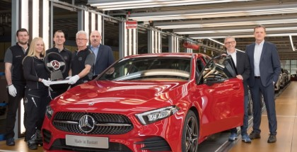 Produktionsstart der neuen A-Klasse im Mercedes-Benz Werk Rastatt   Start of production of the new A-Class at Mercedes-Benz Rastatt plant in Germany