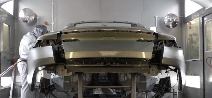 Aston Martin DB11 Paint Shop At The Factory – Video