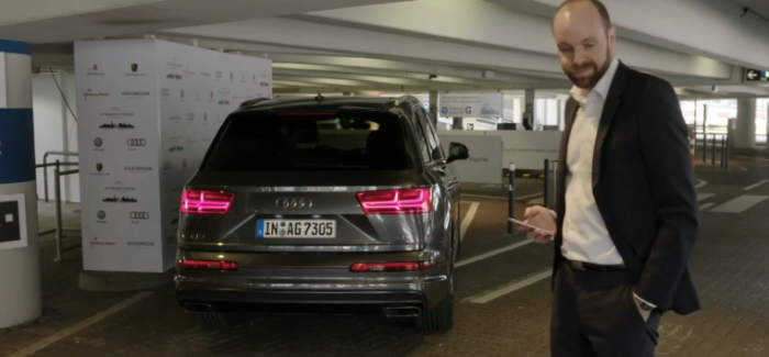 Audi Autonomous Self parking Demonstration – Video