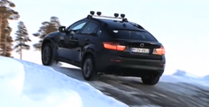 BMW X6 M Traction Test on Snow & Ice