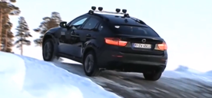 BMW X6 M Traction Test on Snow & Ice – Video