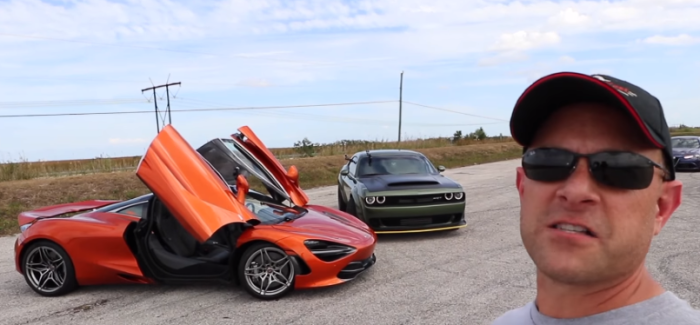 Dodge Demon vs McLaren 720S – Video