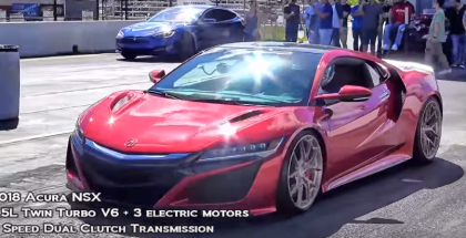 Modified 2018 Acura NSX Drag Racing (2)