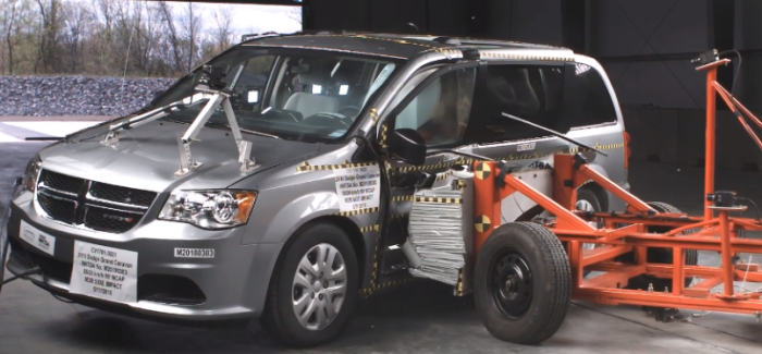 2018 Dodge Grand Caravan Minivan Crash Test & Rating – Video