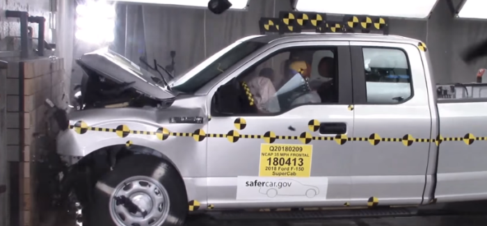 2018 Ford F150 Supercab Truck Crash Test – Video