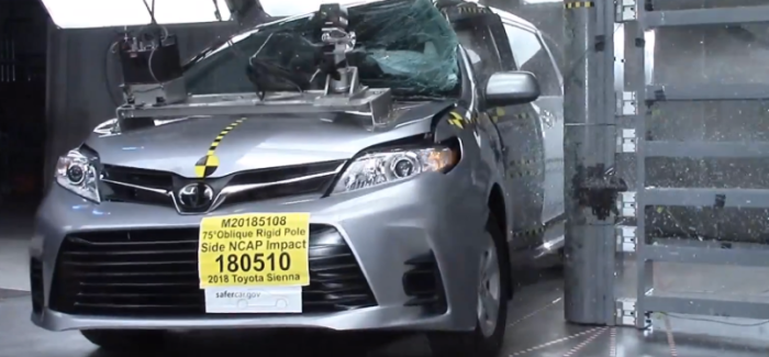 2018 Toyota Sienna Minivan Crash Test & Rating – Video