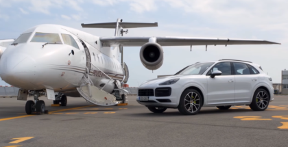 2019 Porsche Cayenne E Hybrid With Private Jet