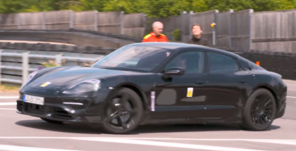 Electric Porsche Mission E Sedan Test Drive By Mark Webber