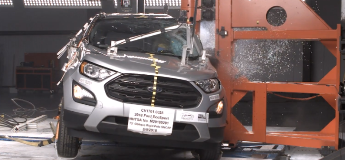 2018 Ford Ecosport SUV Side Crash Test & Rating – Video