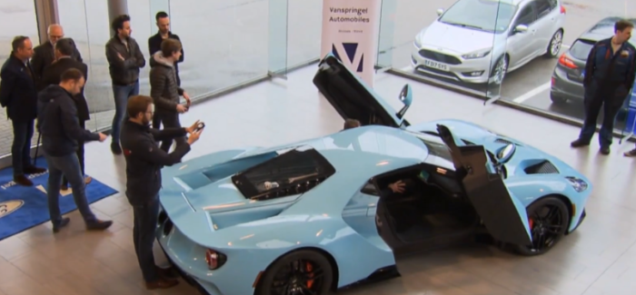 2018 Ford GT In Heritage Blue Being Delivered To Customer – Video