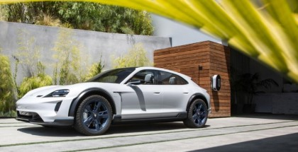 Electric Porsche Mission E Cross Turismo In Malibu
