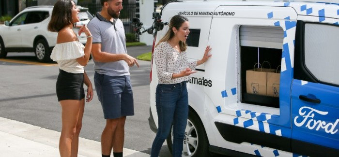 Ford Self Driving Food Delivery Service – Video